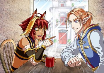 Wanna Bet? Rua and Silas from A Brush With Magic by sonialeong