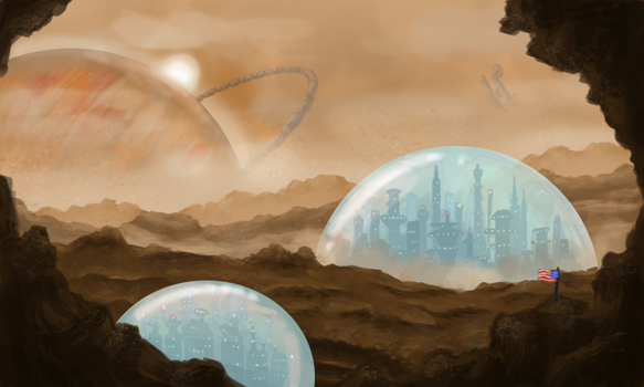 Titan Mining City by InkRose98