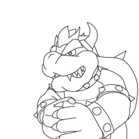 Bowser Lineart by TheRealMarkyboy