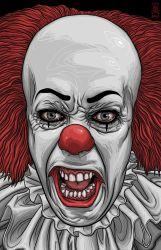 Pennywise the Clown from Stephen King's It by quasilucid