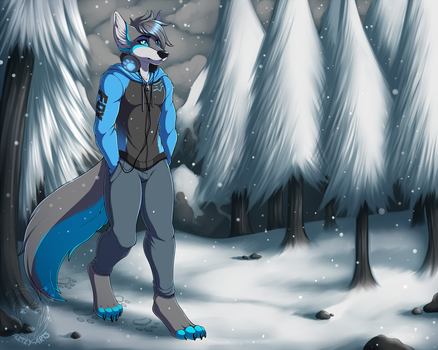 Commission: Winter Stroll by Blitzy-Arts