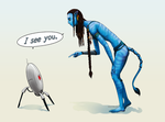 I See You 2: Avatar + Portal by ghostfire