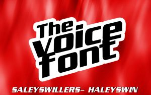 +The Voice Font by irwinbae