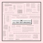 Decorative Brushes: Set 04 - Tiny Text by colorfilter