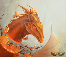The Dragon Of Fall by Zafrean