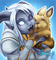 Draenei Commission by Iriadescent