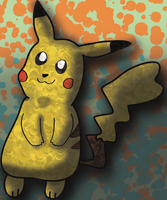 Pikachu painting by buckbexie