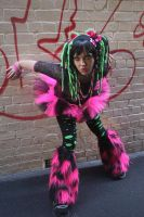 Pink green raver 3 by WednesdayStock
