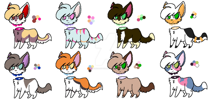 Headless Kitties batch 1 (7/8) by ArtemisAdoption