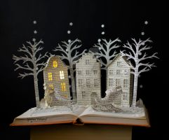 Christmas Book Art by MalenaValcarcel