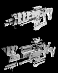 Fusion Rifle Custom: Exploded View by lady-die