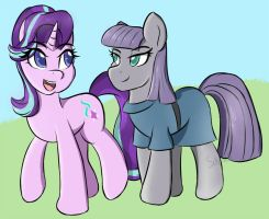 Starlight and Maud Pie by SanzoLS
