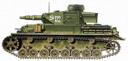 Pz.Kpfw IV Ausf. F1. The107th Separate Tank Battal by TheDesertFox1991