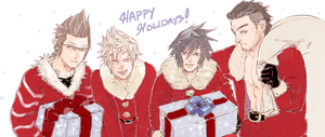 FFXV: Happy Holidays by saltycatfish