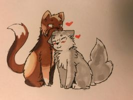 Tuskor and eska cat by AnnoyingTiff
