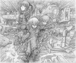 Save Point : Deep Water (pencil) by fredrin
