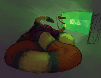 Commissioned Snek by Laughing-Dove