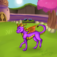 Spyro - a heros tail 'Dragon village' by Misspic