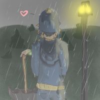 In the Rain by DoodleSauce