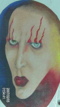 Marilyn Manson Color by RedSmile77