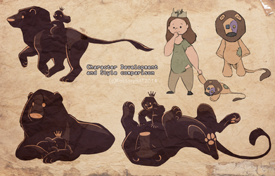 Lion Girl designs by DawnFrost