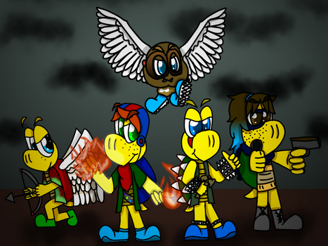 Battle Baddie Buddies: The Fearsome Five by CrazyStarlightRene01