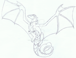Assignment 1# Febuary: Bleu (Dragon OC) by HappyBleuDragon