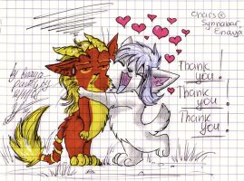 big big BIG THANKS by Enaya-TheWhiteWolfen