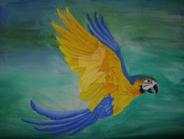 Parrot, In Acryllic. by Psychosomatic-Psyche