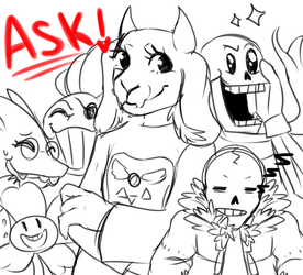 !~Ask/Dare The Undertale Crew~! by The-Star-Hunter