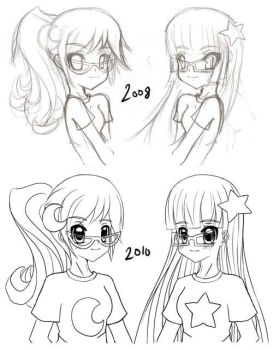 Susan and Mary Test REdraw by NigthmareSakura