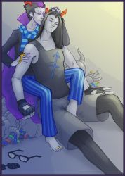 Homestuck: shh, only footjobs now by Silarcta