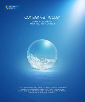 Conserve Water Poster by muhiza