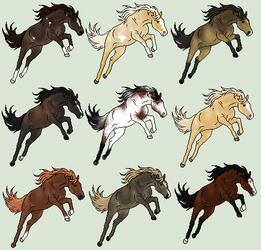 Adopts 8/9 Available by horsegirl121