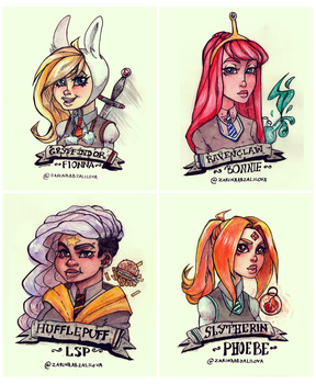 Adventure Hogwarts Time Girls Crossover by ZARINAABZALILOVA