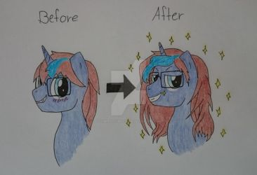 MLP OC: John-Blund Before, After by Elmer157Typhlosion