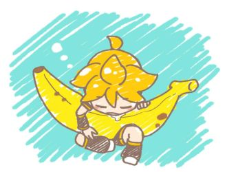 with a BIG banana by grimay