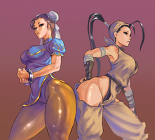 Ibuki and chun by cutesexyrobutts