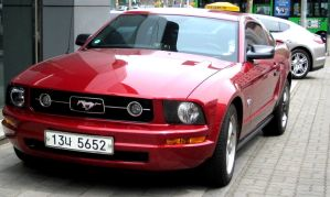 Mustang with Panamera by toyonda