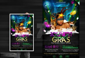 Jouvert Mardi Gras Party Flyer by Gallistero