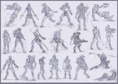 Covenant sketchdump 4: Elite Edition by The-Chronothaur