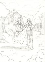 The Mirror -Pencil Drawing 2005 by dream-chylde