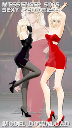 [MMD] Messenger Six's Sexy Red Dress (MODEL DL) by Riveda1972