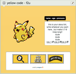yellow code // f2u by sunguss