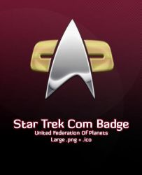 Star Trek Com Badge by michaelmknight