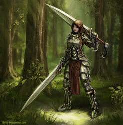 Female armor concept by Forge-T