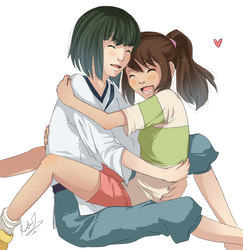 A thousand hugs from Chihiro by EvilQueenie