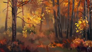 Autumn Forest by BlibaBlob