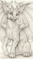 Mini: Horned Cat Thing by synnabar
