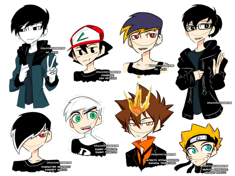 Doodles - Me, My OCs, and TV Show Characters by DragonChaser195